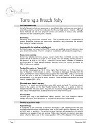 Turning A Breech Baby - Pomegranate Community Midwives