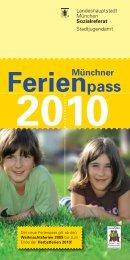 Münchner Ferienpass 2010 - Falter - Pomki