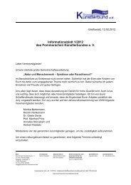 Informationsblatt 1/2012 des Pommerschen Künstlerbundes e. V.