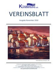 vereinsblatt - Pommerscher Künstlerbund