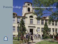 Annual Report 2007-2008 [pdf] - Pomona College