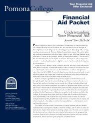 Understanding Your Financial Aid - Pomona College