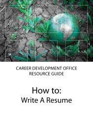 """How to: Write a Resume."" [pdf]"