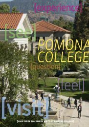Campus Visits brochure - Pomona College