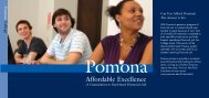 Affordable Excellence [pdf] - Pomona College