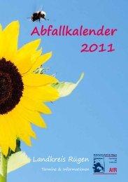Abfallkalender 2011 - AfR -  Eigenbetrieb Abfallwirtschaft für Rügen