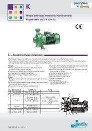 de 10 à 30 m3/h - Pompes Direct