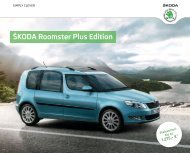 Å koda Roomster Plus Edition Katalog inkl. Preise ... - DHT Automobile