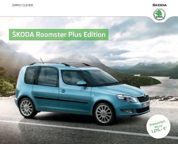 Åkoda Roomster Plus Edition Katalog inkl. Preise ... - DHT Automobile