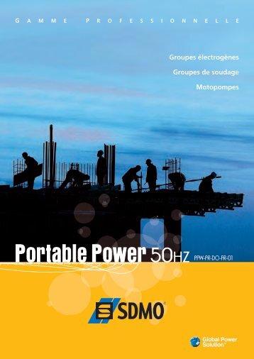Portable Power 50HZ PPW-PR-DO-FR-01 - Pompes Direct