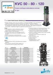 KVC 50 - 80 - 120 - Pompes Direct