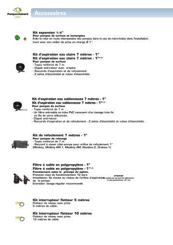 Accessoires - Pompes Direct