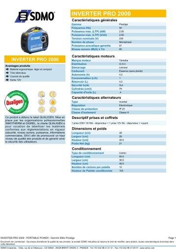 INVERTER PRO 2000 - Pompes Direct