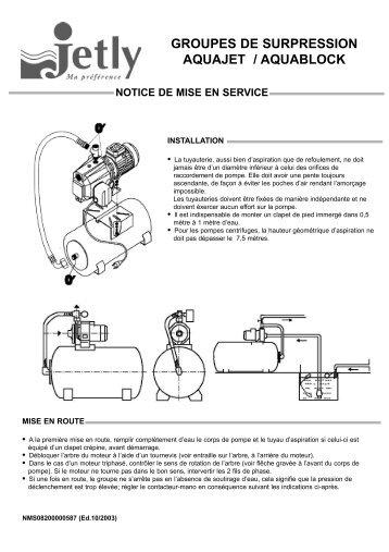 Notice mise en service - Pompes Direct