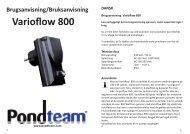 Varvtalsregulator varioflow 800 W