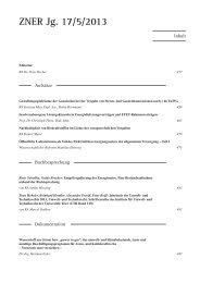 ZNER Jg. 17/5/2013 - Ponte Press Verlags GmbH