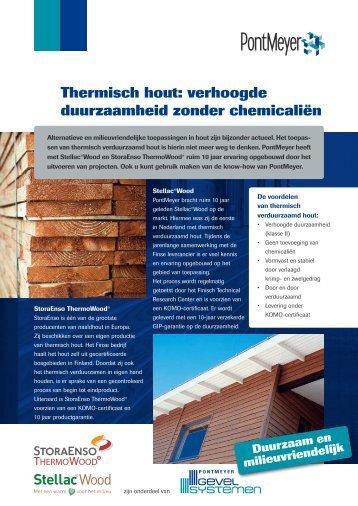 Thermisch hout: verhoogde duurzaamheid zonder ... - Pontmeyer