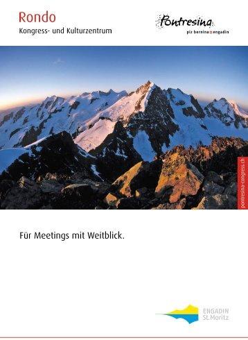 """Für Meetings mit Weitblick."" (PDF 2.1MB) - Rondo Pontresina"