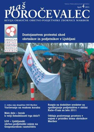 Dostojanstven protestni shod obrtnikov in ... - ponudba obrti