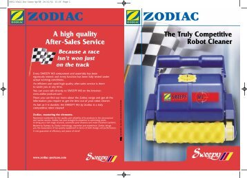 Pool cleaner Sweepy M3 consumer leaflet
