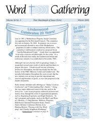 WG Winter 2005.indd - Poor Handmaids of Jesus Christ