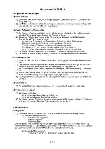 Vereinssatzung - Magdeburg Poor Pigs