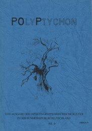 1 POLYPTYCHON Nr. 9 - 1991 blättern - POP Initiativgruppe ...