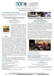 Newsletter der ΠΟΠ Oktober 2013 Liebe Mitglieder und Freunde der ...
