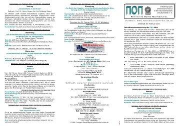 ΠΟΠ-Infoblatt Februar 2011 - POP Initiativgruppe Griechische Kultur