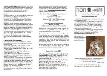 Sa., 16.05.09, 16:00-23:00 Uhr - POP Initiativgruppe Griechische ...