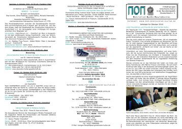 ΠΟΠ-Infoblatt Oktober 2010 - POP Initiativgruppe Griechische Kultur