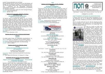 ΠΟΠ-Infoblatt Juni 2011 - POP Initiativgruppe Griechische Kultur