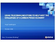 using telecommunications to help meet the challenges of a carbon ...