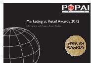 Marketing at Retail Awards 2012