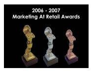 2007 Marketing At Retail Awards - POPAI Australia & New Zealand