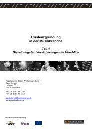 Existenzgründung in der Musikbranche - Popakademie Baden ...
