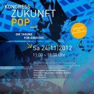 zukunft pop - Popakademie Baden-Württemberg