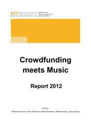 Crowdfunding meets Music - Popakademie Baden-Württemberg