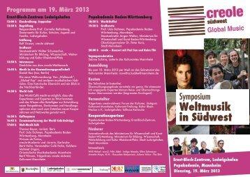 Weltmusik in Südwest - Popbüro Region Stuttgart