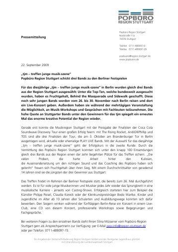 """Pressemitteilung 22. September 2009 """"tjm – treffen junge musik ..."""