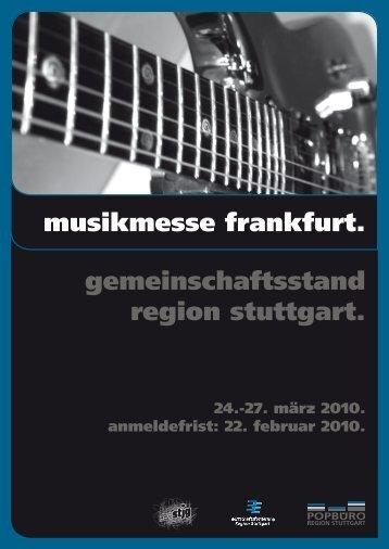 musikmesse frankfurt. gemeinschaftsstand region stuttgart.