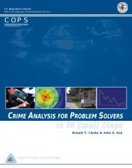 CRIME ANALYSIS FOR PROBLEM SOLVERS In 660 SSmall SSteps