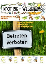 Infothek Waldkinder - Blick in den Juni Waldbrief