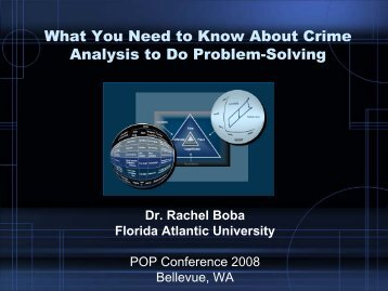 What You Need to Know About Crime Analysis to Do Problem-Solving