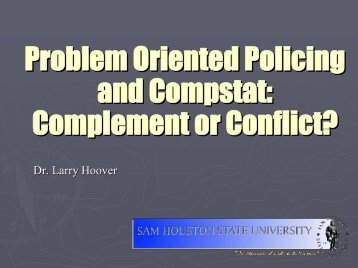 an examination of the efficiency of the problem oriented policing pop approach Implementing a comprehensive performance management approach in community policing and managing a problem-oriented police problem-oriented policing:.