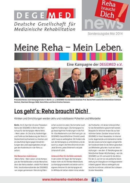 DEGEMED News Sonderausgabe Kampagne Mai 2014