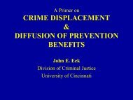 CRIME DISPLACEMENT & DIFFUSION OF PREVENTION BENEFITS