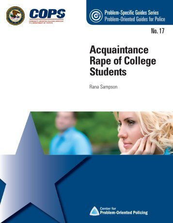 Acquaintance Rape of College Students - Center for Problem ...
