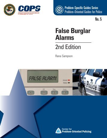 5. False Burglar Alarms, 2nd Edition - Center for Problem-Oriented ...