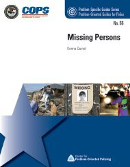 Missing Person - Center for Problem-Oriented Policing